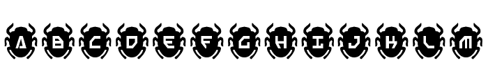 Scarab Solid Font LOWERCASE
