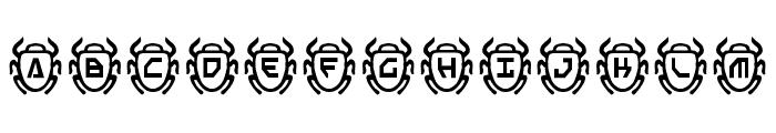 Scarab Font LOWERCASE
