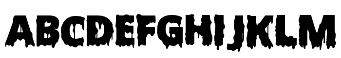 Scary Halloween Font Bold Font LOWERCASE