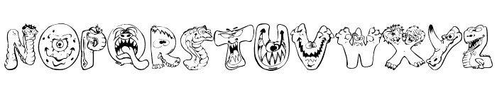 Scary Monsters Font UPPERCASE