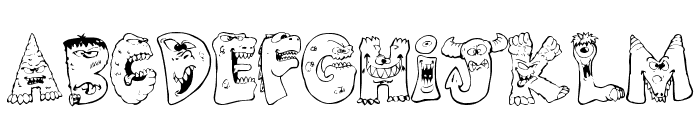 Scary Monsters Font LOWERCASE