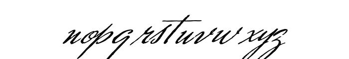 Scharnhorst Font LOWERCASE
