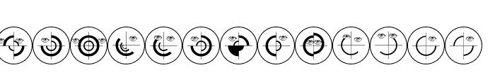 SchiessScheibeUndAuge Font LOWERCASE