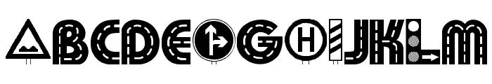 Schilderwald Font LOWERCASE