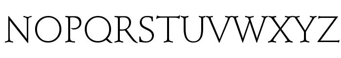 Schindler Light Font UPPERCASE