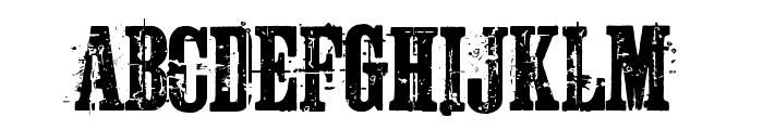 Schkorycza Font UPPERCASE
