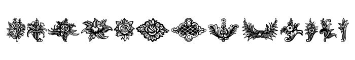 Schluss-Vignetten Font LOWERCASE