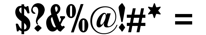 Schmale Anzeigenschrift Zier Font OTHER CHARS