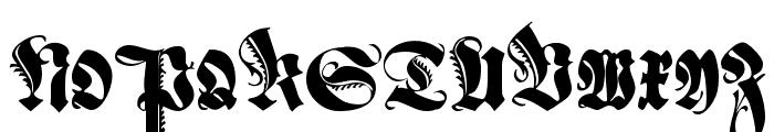 Schmale Anzeigenschrift Zier Font UPPERCASE