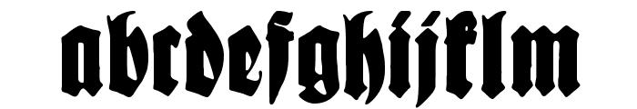 Schmale Anzeigenschrift Zier Font LOWERCASE