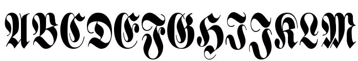 Schmalfette Fraktur Font UPPERCASE