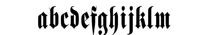 Schmalfette Fraktur Font LOWERCASE