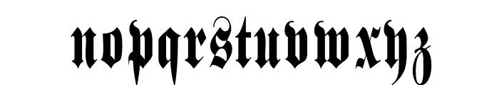 SchmalfetteFraktur Font LOWERCASE