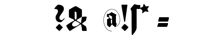 SchmalfetteGotisch Font OTHER CHARS