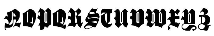 SchmalfetteGotisch Font UPPERCASE