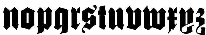 SchmalfetteGotisch Font LOWERCASE
