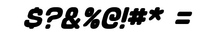 Schnaubelt Bold Italic Font OTHER CHARS