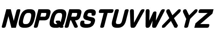 Schnaubelt Bold Italic Font UPPERCASE