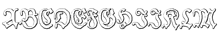 Schneider Buch Deutsch Beveled Free Font UPPERCASE