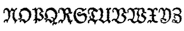 Schneider Buch Deutsch Trash Free Font UPPERCASE