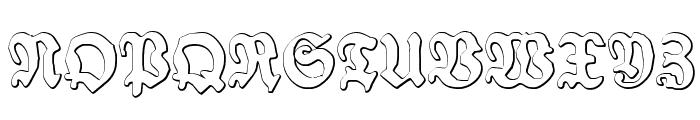 Schneidler Halb Fette Beveled Font UPPERCASE