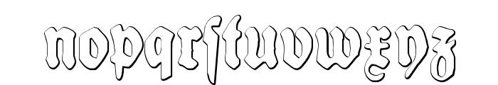 Schneidler Halb Fette Beveled Font LOWERCASE