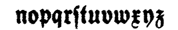 Schneidler Halb Fette Trash Font LOWERCASE