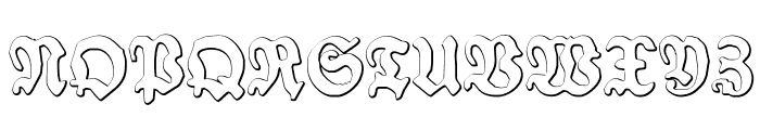 SchneidlerHalbFetteBeveled Font UPPERCASE