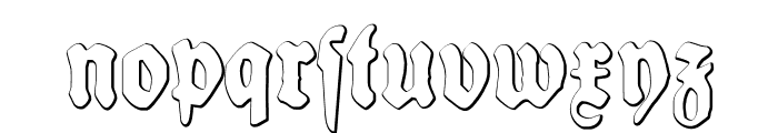 SchneidlerHalbFetteBeveled Font LOWERCASE