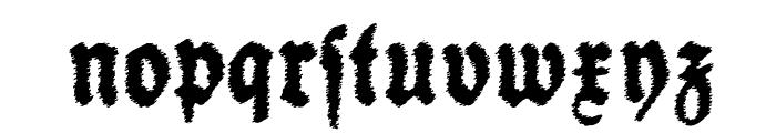 SchneidlerHalbFetteTrash Font LOWERCASE