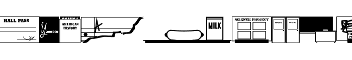 School Daze JL Font UPPERCASE
