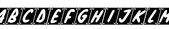 School Play Italic Font UPPERCASE