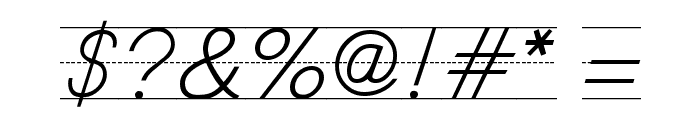 SchoolScriptDashed Font OTHER CHARS
