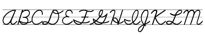 SchoolScriptDashed Font UPPERCASE