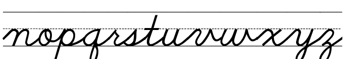 SchoolScriptDashed Font LOWERCASE