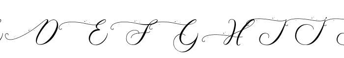 Schoolkid Font UPPERCASE