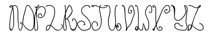 Schosszeit1 Font UPPERCASE