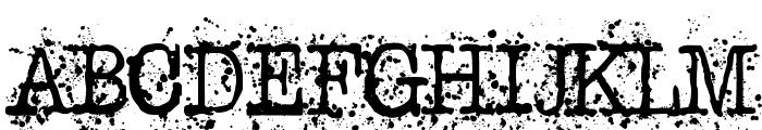 Schreibmaschine Font UPPERCASE
