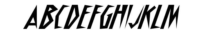 Schrill AOE Oblique Font UPPERCASE