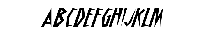 Schrill AOE Oblique Font LOWERCASE