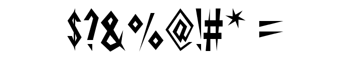 Schrill AOE Font OTHER CHARS