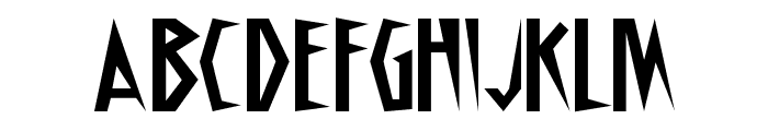Schrill AOE Font UPPERCASE