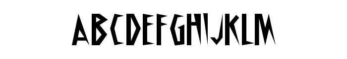 Schrill AOE Font LOWERCASE