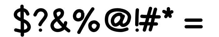 SchuboiseHandwrite Font OTHER CHARS