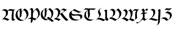 Schwabach Font UPPERCASE