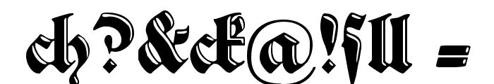SchwabachDeko Font OTHER CHARS
