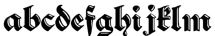 SchwabachDeko Font LOWERCASE