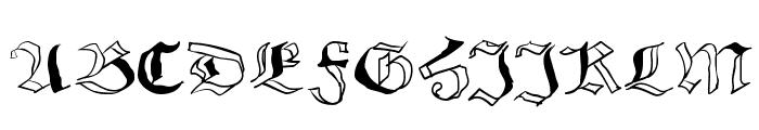 SchwabachScribbels Font UPPERCASE