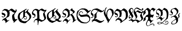 Schwabacher Font UPPERCASE