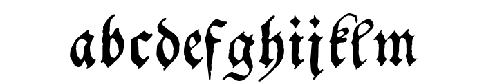 Schwabacher Font LOWERCASE